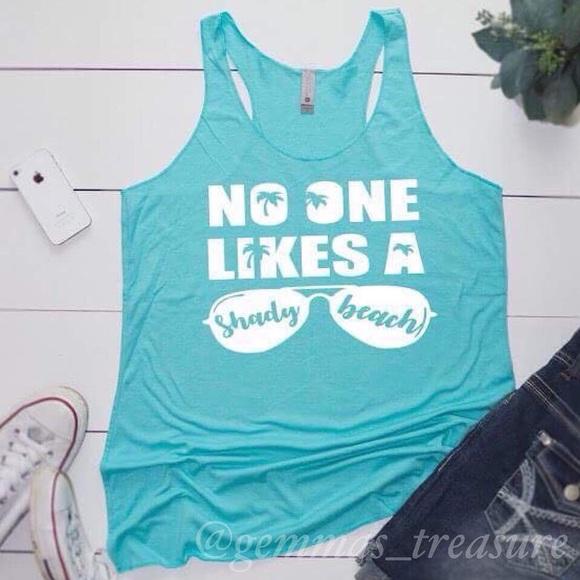 704888621d Tops | No One Likes A Shady Beach Tank | Poshmark